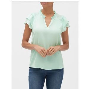 Banana Republic Flutter Sleeve Top Mint size M NWT